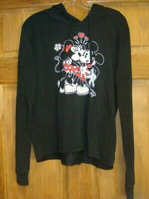 Mickey and Minnie mouse Disney Hoodie Jacket LARGE GIRLS