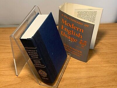 A Dictionary of Modern English Usage 2nd Edition by H. W. Fowler & Sir Ernest Go