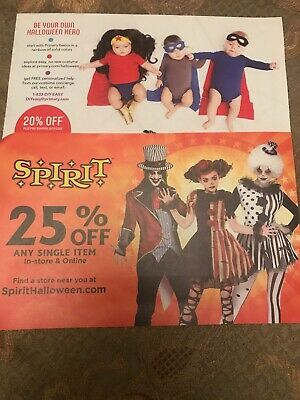 Two Halloween Offers 25% Off Spirit+20% Off Primary.com
