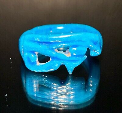 Ancient Egyptian Faience Ring - Udjat -  Eye Of Horus; Amarna Period