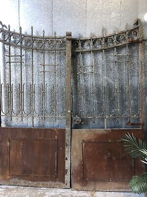 Architectural Antique French Driveway Entrance Garden Gates /Doors Circa 1800's