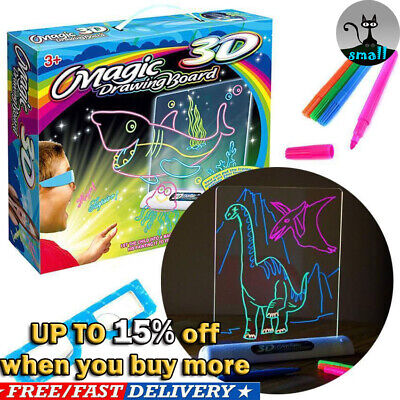 New Creative Magic Drawing Board Children Toys Boys Girls Pen 3D Glasses HOT!!