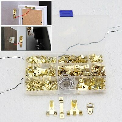 280Pcs Picture Hangers Hooks Wire Hardware Photo Frame Wall Mounting