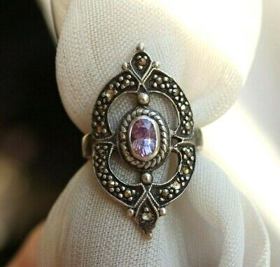 Antique Imperial Russian silver 84 Ring with stone Faberge Design