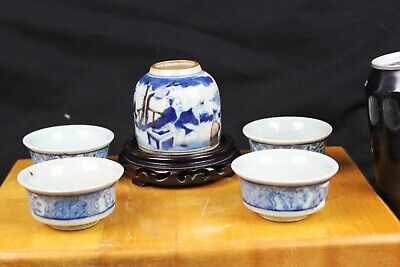 Antique Chinese Porcelain cups 2.5''x2.5''