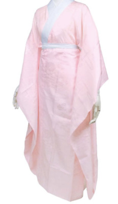 Japanese Women Traditional Kimono inner wear Long Naga Juban Furisode Pink 02