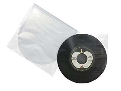"""Rounded 7 """" Anti-Static plastic Inner Vinyl 45 rpm Record Sleeves (100 pieces)"""