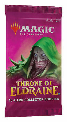1 Throne of Eldraine Collector's Booster & 3 Kaladesh Buy A Box Promo Packs, MTG