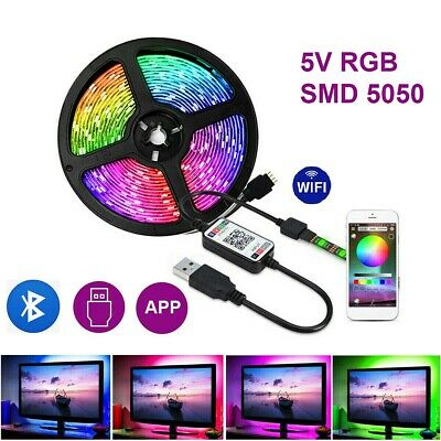 1-5M Usb 5050 Rgb Led Strip Lights Colour Changing Tape Cabinet Kitchen Lighting