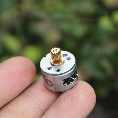 Mini 15MM 2-Phase 4-Wire Stepper Motor 18° With 15T 0.25 Modulus Copper Gear DIY