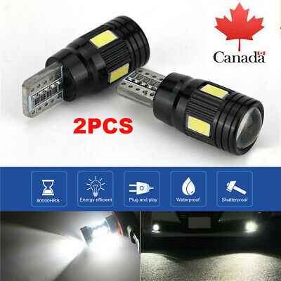 2x T10 6SMD 5630 LED WHITE 501 W5W CANBUS SIDE REVERSE LIGHTS BULBS 6000K
