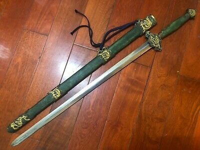 "Collectable Chinese ""Jian"" Sword Sharp Folded pattern steel Blade"