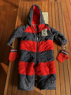 Toddler Snowsuit All-in-one *Tommy Hilfiger* Cute Zip-up Snowsuit