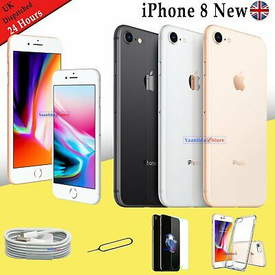NEW Unlocked Apple iPhone 8 64GB SIM Free Smartphone Various Colour Silver UK