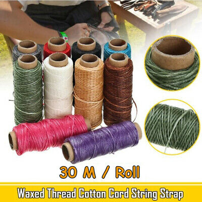 30m/Roll 1mm Hand Stitching Waxed Thread for Leather Material Handcraft Tools