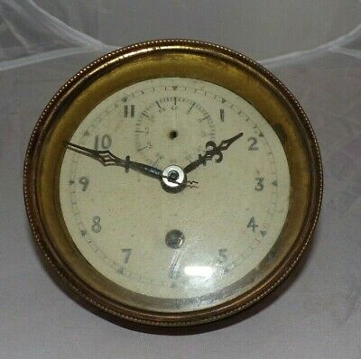 Antique Mantel Clock Face/Bezel With HAC Movement, Spares/Repair