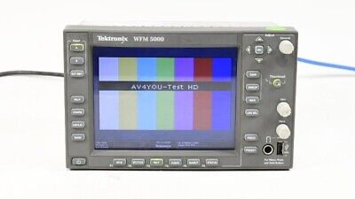 Tektronix WFM5000 Multi-format Waveform Monitor OPT: SD HD DG Audio #B011577