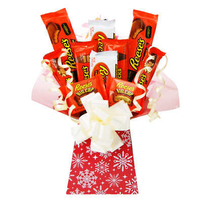 Reese's American Chocolate Christmas Bouquet Gift Hamper Selection Perfect Gift