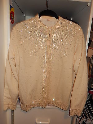 VINTAGE cardigan with sequins