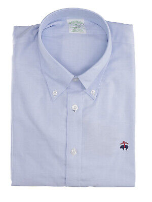 BROOKS BROTHERS Mod. 146319 Camicia Oxford  Non-Iron Uomo Celeste