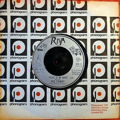 Rod Stewart*You're In My Heart*Riva 11*1977*Very Good Shiny Condition