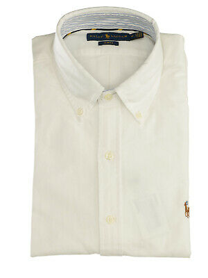 RALPH LAUREN Mod. 710767441 Camicia Oxford Slim Fit Uomo Bianco