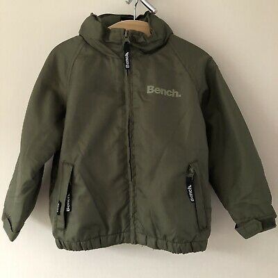 Bench Boys Lightly Padded Fleece Lined Jacket Age 2-3 Kahki Green