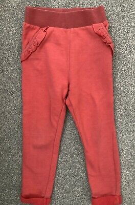 Girl's Dark Pink Jogger / Casual Frill Trousers - 2-3 Years - M&S
