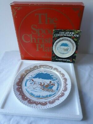 """SPODE Fine Bone China """"CHRISTMAS PASTIMES-SLEIGH RIDE"""" (1982) COLLECTOR PLATE."""