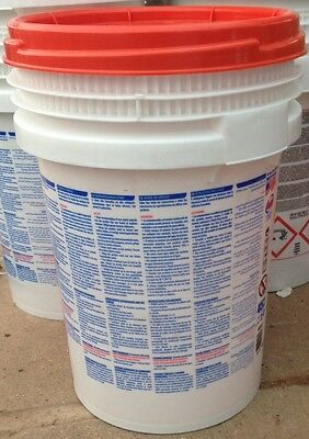 Plasterers Mixing Buckets (Box of 3), Heavy Duty, 45 litres with screw on lid