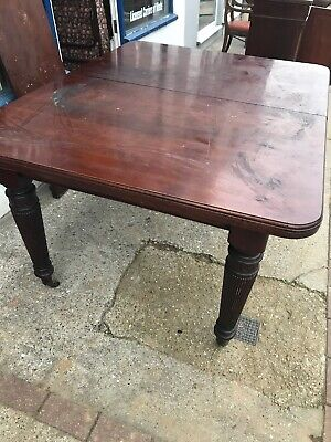 Victorian Wind Out Mahogany Dining Table