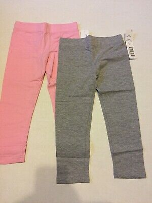 Clementine Apparel Big Girls Ultra Soft 2 Pack Leggings Pink & Gray SIZE 5