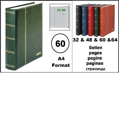 Stamp Album Album Padded Green 60 White Pages Lindner 1162S-G