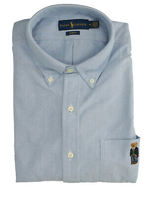 RALPH LAUREN Mod. 710767440 Camicia Oxford Teddy Bear Slim Fit Blu