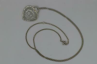Pre-owned Tiffany & Co. 925 Sterling Silver Return to Tiffany Love Pendant
