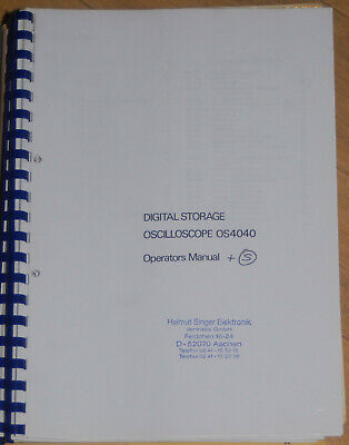 Gould Service und Operator Manual DSO OS-4040 /2 Teile!