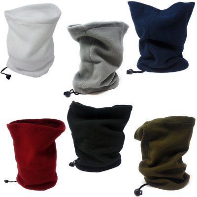 Neck Warmer Fleece Black Cycling Winter Adults Snood Scarf Tube Sports Unisex UK