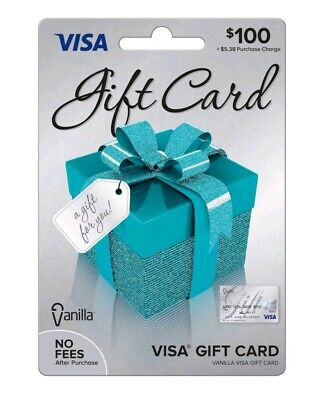 $100 GIFT CARD. ACTIVATED. FREE SHIPPING! No Fees After Purchase. Non Reloadable