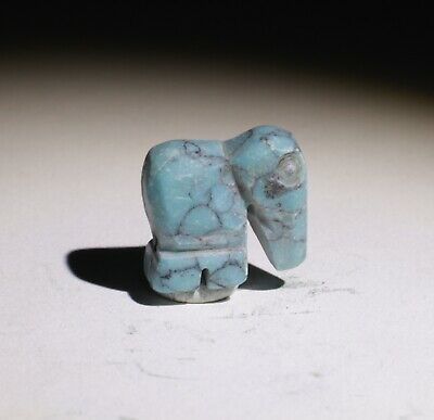 Ancient Bactrian Turquoise Amulet, Elephant Circa 1000Bc   021