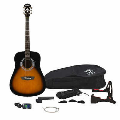 GWL George Washburn Limited Acoustic Guitar Pack + Strap Bag Stand Tuner & More!