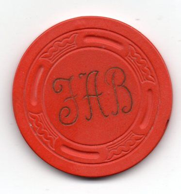 Harold's Club .25 Casino Chip Reno NV TCR# D1235 Fred A Beck Large Crown Mold