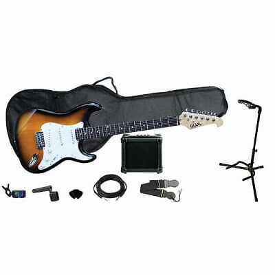 GWL George Washburn Limited Electric Guitar Pack + Amp Stand Bag Strap & More!