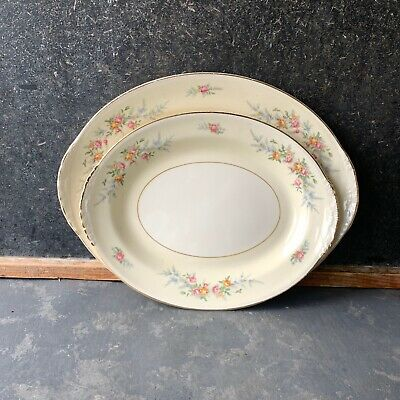 Homer Laughlin Ferndale Serving Platters, China, floral, eggshell nautilus