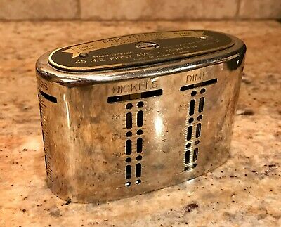 Vintage Dade Federal Savings & Loan Miami Florida Traveling Teller Coin Bank
