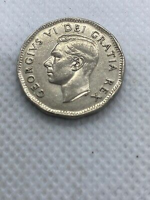 CANADA 1948 FIVE 5 cent nickel CANADIAN coin King George VI