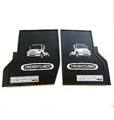 Freightliner Business Class M2 Black All-Weather Rubber Floor Mats OEM with Logo