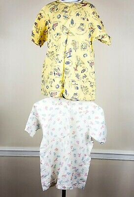 Vintage Toddler Hospital 2 Gowns Millcrest SM Cats Dogs & Whitehouse MED Safety