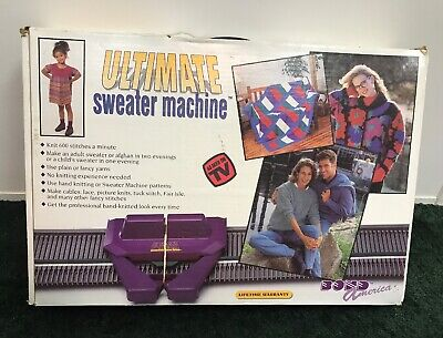 The Bond America Ultimate Sweater Knitting Machine VHS with Extensions