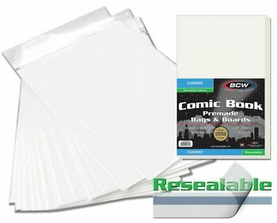 BCW Pre-Made Modern/Current Age Resealable Comic Book Bags & Boards - Qty. 500