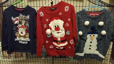 3 Christmas Tops Jumpers Bundle Age 4 5 6
